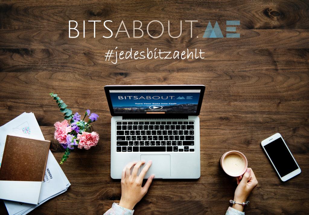 Benutzeroberfläche Marktplatz für persönliche Daten von BitsaboutMe