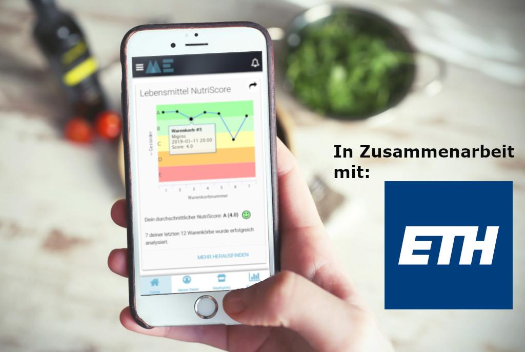 Nutri-Score-Analyse auf BitsaboutMe Dashboard in Zusammenarbeit mit der ETH Zürich