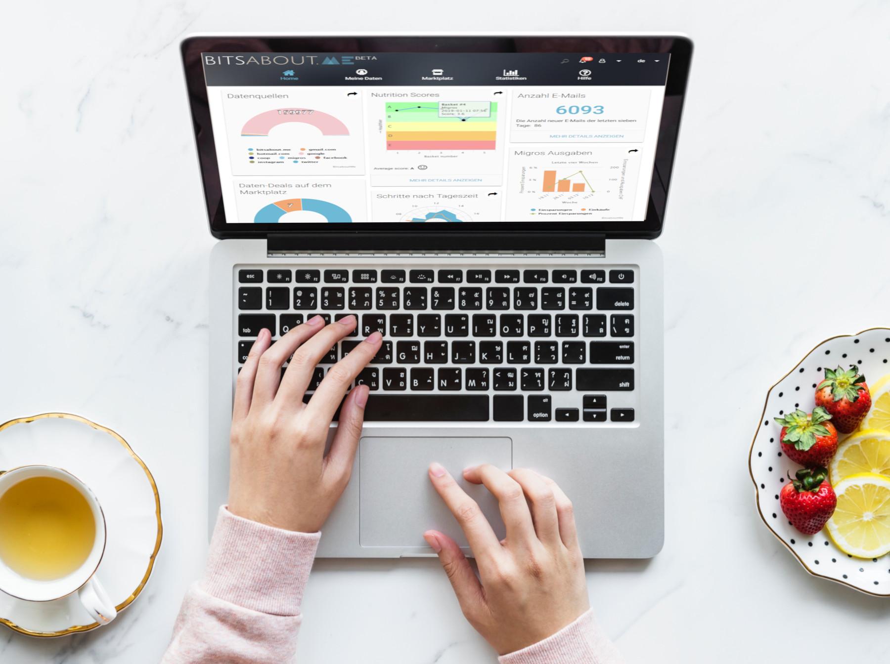 Individuelle Nutri-Score-Analyse auf BitsaboutMe Dashboard