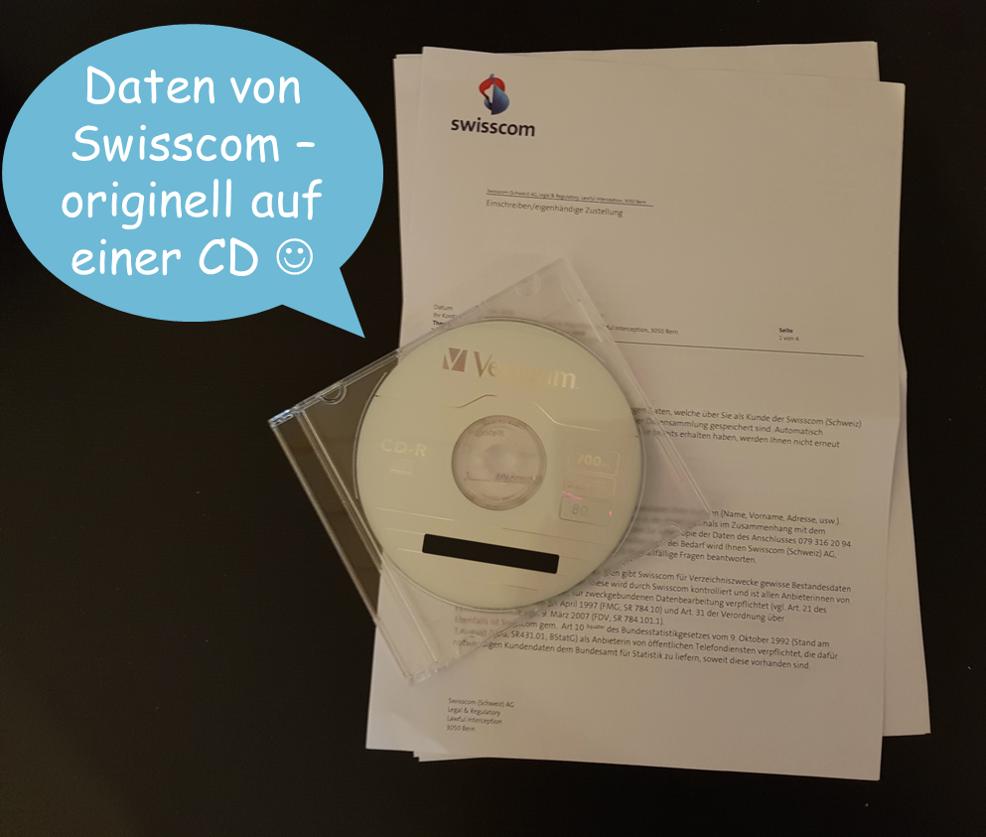 Datenauskunft Swisscom