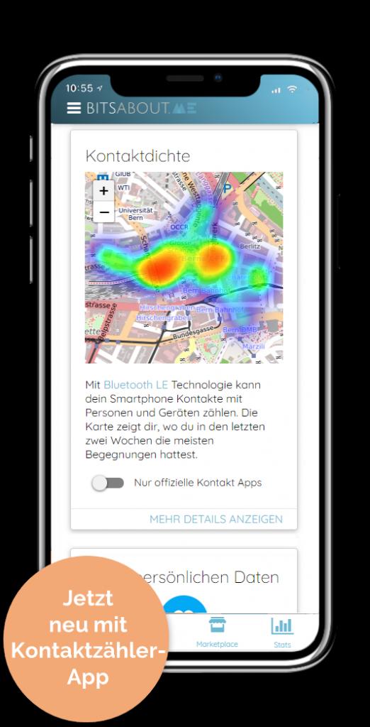 Kontaktzähler-App BitsaboutMe