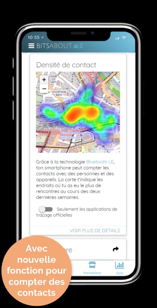 BitsaboutMe App pour compter des contacts