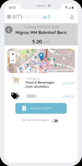 Beispiel Migros-Einkaufsdetails